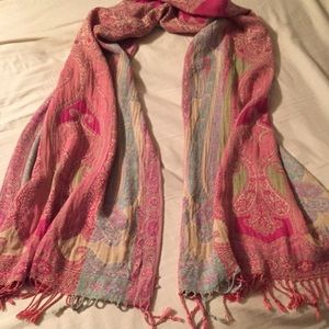 Luxurious long fringed scarf